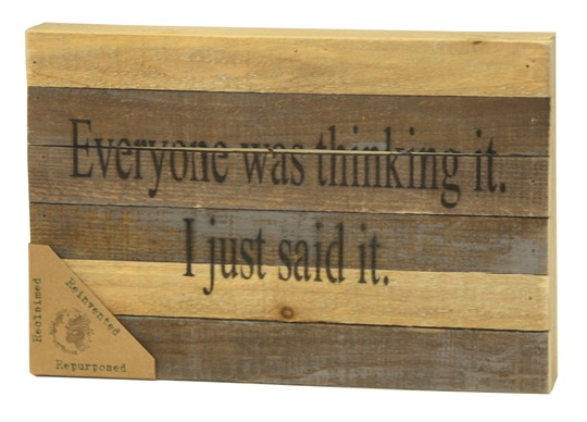 "128THINKING-VN - 12x8"" Reclaimed Wood Wall Art 
