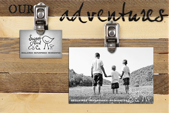 "FRCP1208VN07 - 12x8"" Clips of Life Reclaimed Wood Frame 