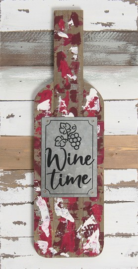 8X18 WINE TIME RECLAIMED WOOD SIGN