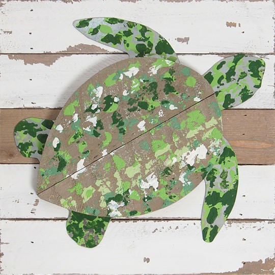 10X10 TURTLE RECLAIMED WOOD SIGN