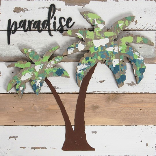 10X10 PARADISE RECLAIMED WOOD SIGN