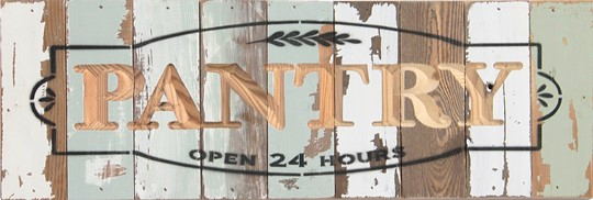 18X6  PANTRY RECLAIMED WOOD SIGN