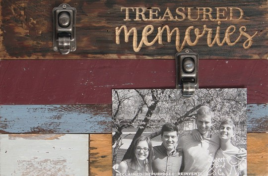 12X8 TREASURED MEMORIES RECLAIMED WOOD CLIP FRAME