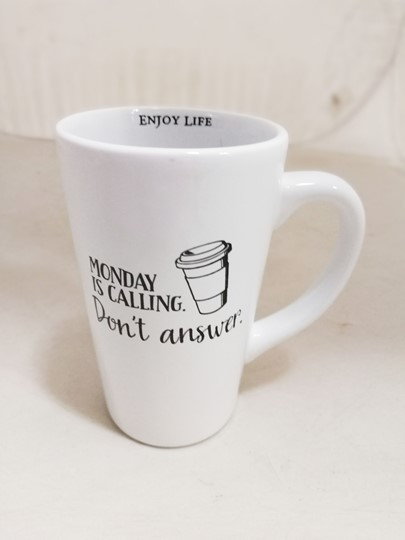 MONDAY IS CALLING 16 OZ LATTE MUG