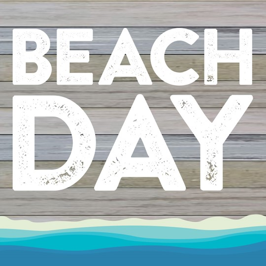 Beach Day 12x12 Indoor/Outdoor Recycled Polystyrene Wall Art