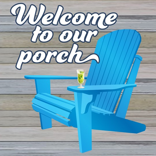 Welcome to Our Porch 12x12 Indoor/Outdoor Recycled Polystyrene Wall Art