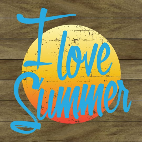 I Love Summer 12x12 Indoor/Outdoor Recycled Polystyrene Wall Art