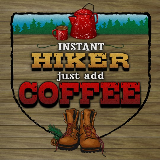 Instant Hiker 12x12 Indoor/Outdoor Recycled Polystyrene Wall Art