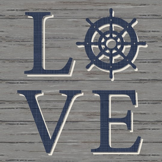 Love 12x12 Indoor/Outdoor Recycled Polystyrene Wall Art