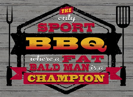 Sport BBQ 22x16 Indoor/Outdoor Recycled Polystyrene Wall Art