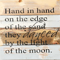 Hand in Hand 12x12 Reclaimed Wood Wall Art