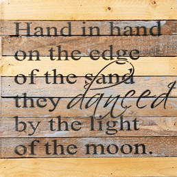 By Light of the Moon 12x12 Reclaimed Wood Wall Art