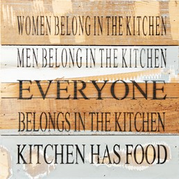 Kitchen Has Food 12X12 Reclaimed Wood Wall Art