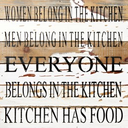 In the Kitchen 12x12 Reclaimed Wood Wall Art