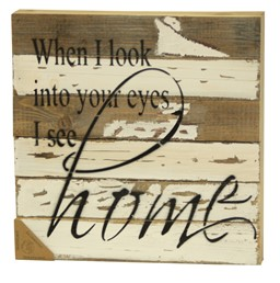 I See Home 12X12 Reclaimed Wood Wall Art