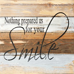 Nothing Prepared Us 12X12 Reclaimed Wood Wall Art