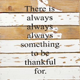 To Be Thankful For 12x12 Reclaimed Wood Wall Art