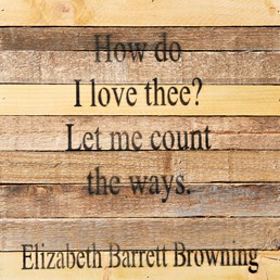 Let Me Count Ways 12x12 Reclaimed Wood Wall Art