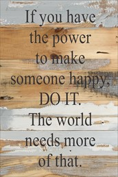 Make Someone Happy 12x18 Reclaimed Wood Wall Art
