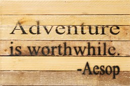 Worthwhile Adventure 12x8 Reclaimed Wood Wall Art