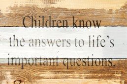 Life's Questions 12x8 Reclaimed Wood Wall Art