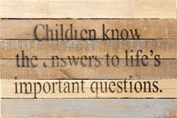 Important Questions 12x8 Reclaimed Wood Wall Art