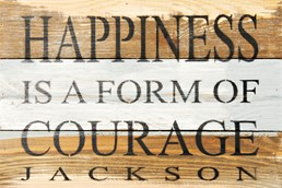 Happiness Is... 12x8 Reclaimed Wood Wall Art