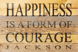 Form of Courage 12X8 Reclaimed Wood Wall Art