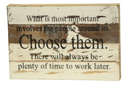 People Around Us 12x8 Reclaimed Wood Wall Art