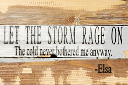 Let the Storm Rage On 12x8 Reclaimed Wood Wall Art