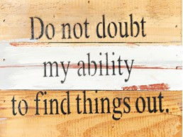Don't Doubt My Ability 8x6 Reclaimed Wood Wall Art