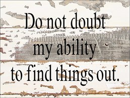 Do Not Doubt Ability 8X6 Reclaimed Wood Wall Art