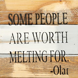 Worth Melting For 8x8 Reclaimed Wood Wall Art
