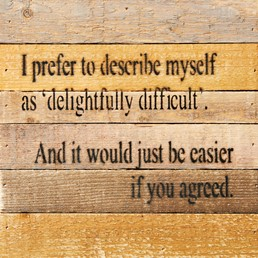 Easier If You Agreed 8X8 Reclaimed Wood Wall Art