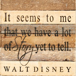 Story Yet to Tell 8X8 Reclaimed Wood Wall Art