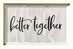 Better Together 12x18 Reclaimed Wood Wall Art