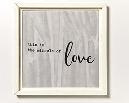 Miracle Of Love 22x22 Reclaimed Wood Wall Art