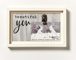Beautiful You 12x8 Reclaimed Wood Clip Frame