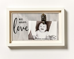 So Much Love 12x8 Reclaimed Wood Clip Frame