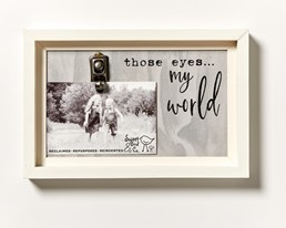 Those Eyes...My World Reclaimed Wood Clip Frame