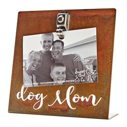Dog Mom 8x8  Bent Metal Salt Bath Clip Frame