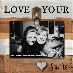 Love Your Smile 8x8 Reclaimed Wood Clip Frame