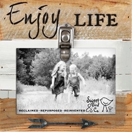 "8x8"" Clips of Life Reclaimed Wood Frame"