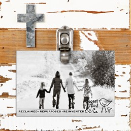 Accent Cross 8x8 Reclaimed Wood Crip Clip Frame