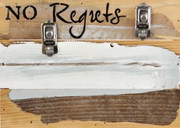 No Regrets 12x8 Reclaimed Wood Clip Frame