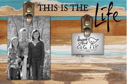 This Is The Life 12x8 Reclaimed Wood Clip Frame