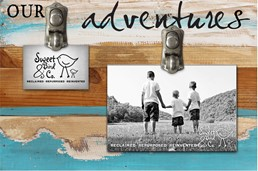 Our Adventures 12x8 Reclaimed Wood Clip Frame