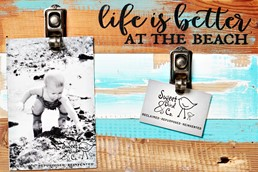 Better At The Beach 12x8 Reclaimed Wood Clip Frame