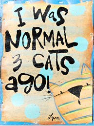Normal 3 Cats Ago 6x8 Reclaimed Metal Wall Art