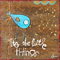 The Little Things 8x8 Reclaimed Metal Wall Art